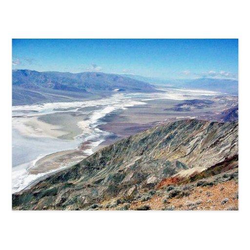 Death Valley Salt Desert Mountains Post Cards