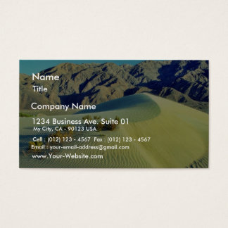 Death Valley Sand Dunes Business Card