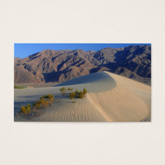 DEATH VALLEY SAND DUNES PHOTOGRAPHY NATURE BEAUTY BUSINESS CARD