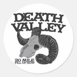 DEATH VALLEY ROUND STICKERS