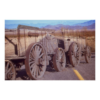 Death Valley Train – Fantasy Art Photo Collage Poster