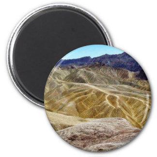 Death Valley Zabriskie Point Sand Desert 2 Inch Round Magnet