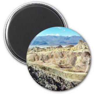 Death Valley Zabriskie Point Sand Desert 3 2 Inch Round Magnet