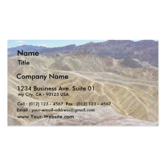 Death Valley Zabriskie Point Sand Desert Double-Sided Standard Business Cards (Pack Of 100)