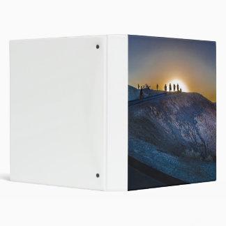 Death Valley zabriskie point Sunset 3 Ring Binder