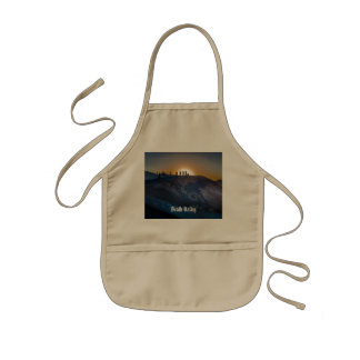Death Valley zabriskie point Sunset Kids' Apron