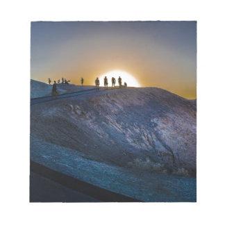Death Valley zabriskie point Sunset Notepad