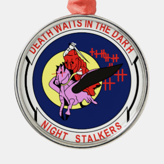 Death waits in the Darh Night Stalkers Metal Ornament