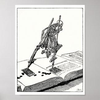 Death walking on stilts poster
