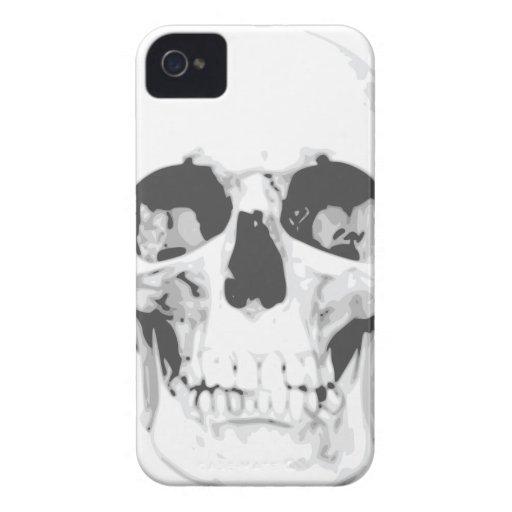 Death White Skull iPhone 4 Case