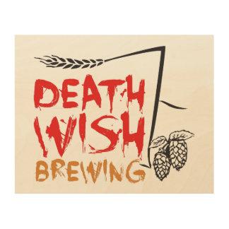 Death Wish Brewing Wood Print