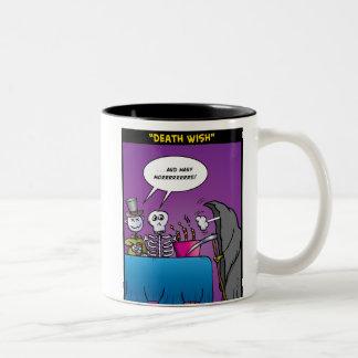 """Death Wish"" Two-Tone Coffee Mug"