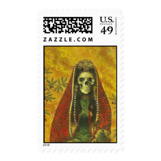 Death Witch Postage Stamp
