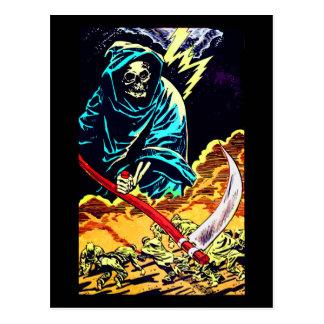 Death with a Scythe Halloween Card Postcard