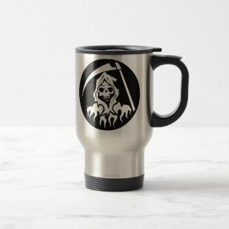 Death with Scythe 15 Oz Stainless Steel Travel Mug