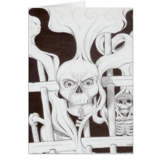 deathbars for halloween card