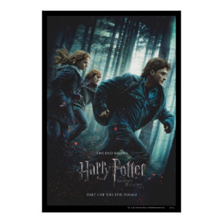 Deathly Hallows - Group Running Print