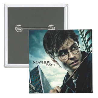 Deathly Hallows - Harry 2 Inch Square Button