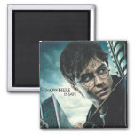 Deathly Hallows - Harry 2 Inch Square Magnet