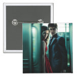 Deathly Hallows - Harry and Hermione 2 Inch Square Button