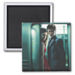 Deathly Hallows - Harry and Hermione 2 Inch Square Magnet