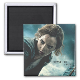 Deathly Hallows - Hermione 2 2 Inch Square Magnet