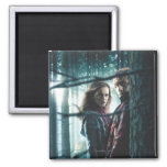 Deathly Hallows - Hermione and Ron 2 Inch Square Magnet