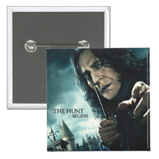 Deathly Hallows - Snape 2 2 Inch Square Button