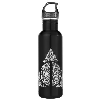 DEATHLY HALLOWS™ Typography Graphic Water Bottle