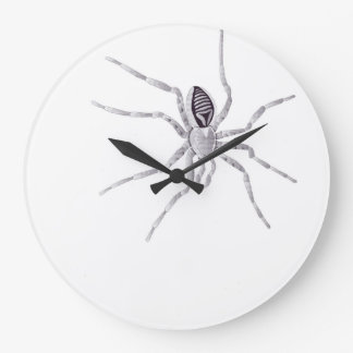 Deathly head spider on bell large clock