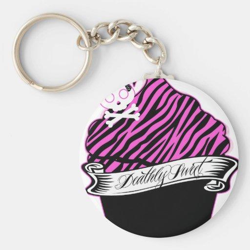 Deathly Sweet Basic Round Button Keychain