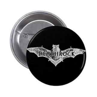 Deathrock Bat Pinback Button
