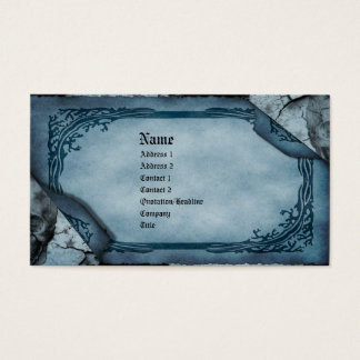Death's Calling Card Gothic Business Card