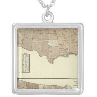 Deaths, enteric, scarlet fever silver plated necklace
