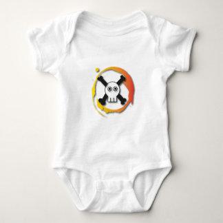 Death's head baby bodysuit