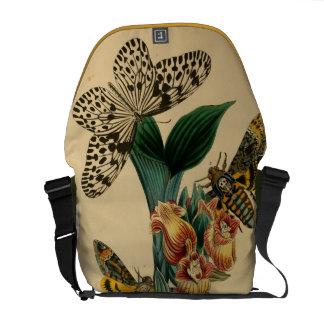 Death's Head Butterflies Bag Courier Bags