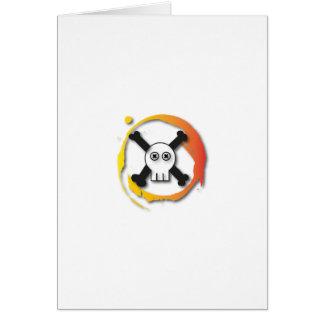 Death's head card
