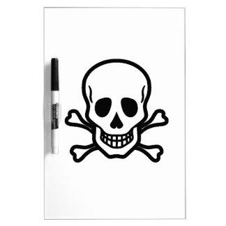 Death's head dry erase board