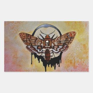 Death's Head Hawk Moth Rectangular Sticker