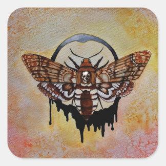 Death's Head Hawk Moth Square Sticker