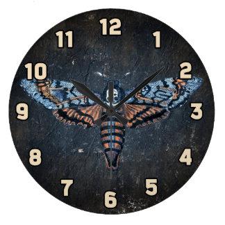 Death's Head Moth, aka Sphinx atropo moth Wall Clocks