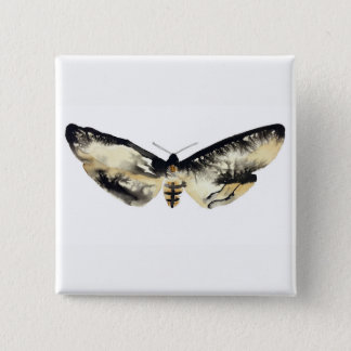 Death's Head Moth Button
