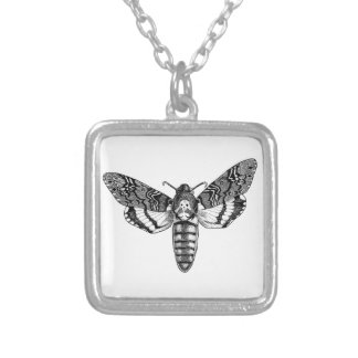 Death's-Head Moth Silver Plated Necklace