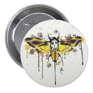 Deaths Head Moth splatterwork Pinback Button