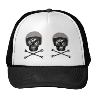 DEATH'S HEAD ON MY CAP TRUCKER HAT