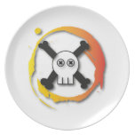 Death's head party plate