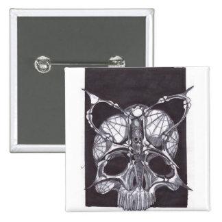 Deaths Head Skull Pinback Button