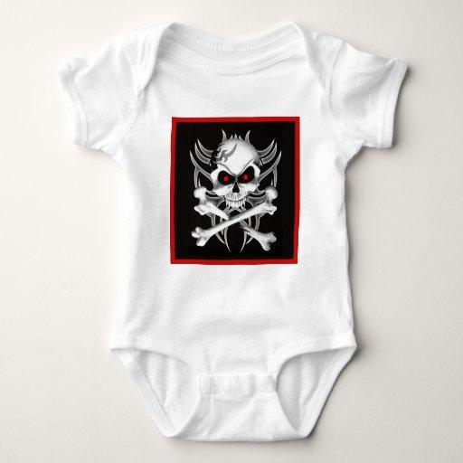 Death's Skull and Crossbones Baby Bodysuit