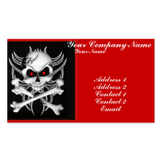 Death's Skull and Crossbones Business Card