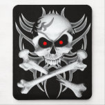 Death's Skull and Crossbones Mouse Pad
